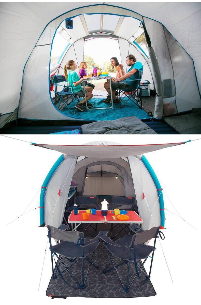 迪卡儂4.1充氣帳篷